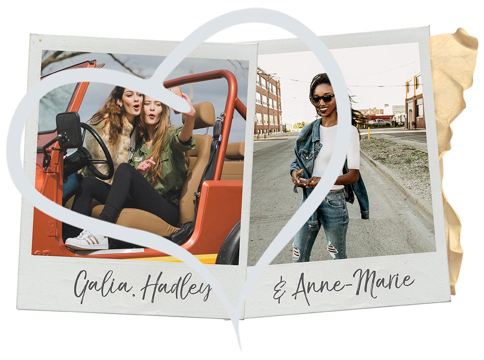 Galia, Hadley, Anne-Marie Polaroid